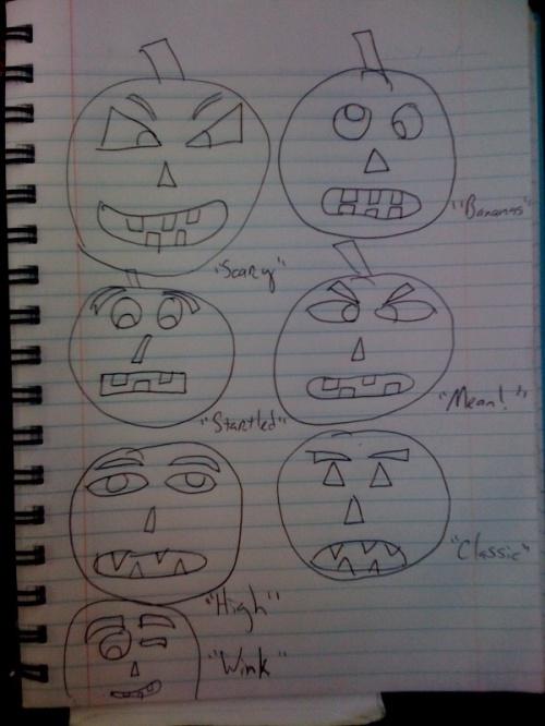 pumpkin sketch 1